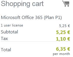 O365 pricing
